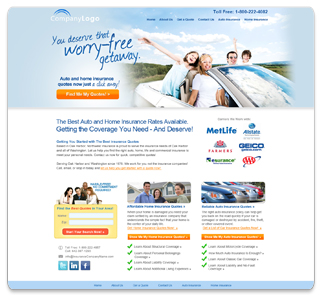 insurance quote website template  Insurance Web Pros, Insurance Website Templates, Insurance Websites